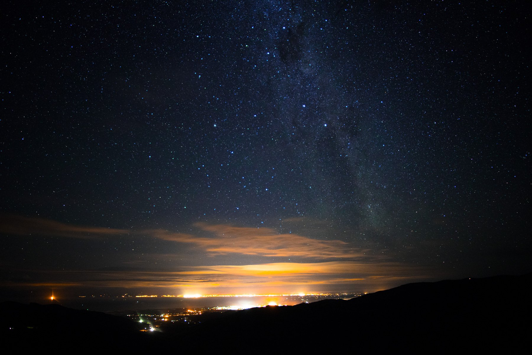 Hawkes Hill Lookout Night Sky Stars