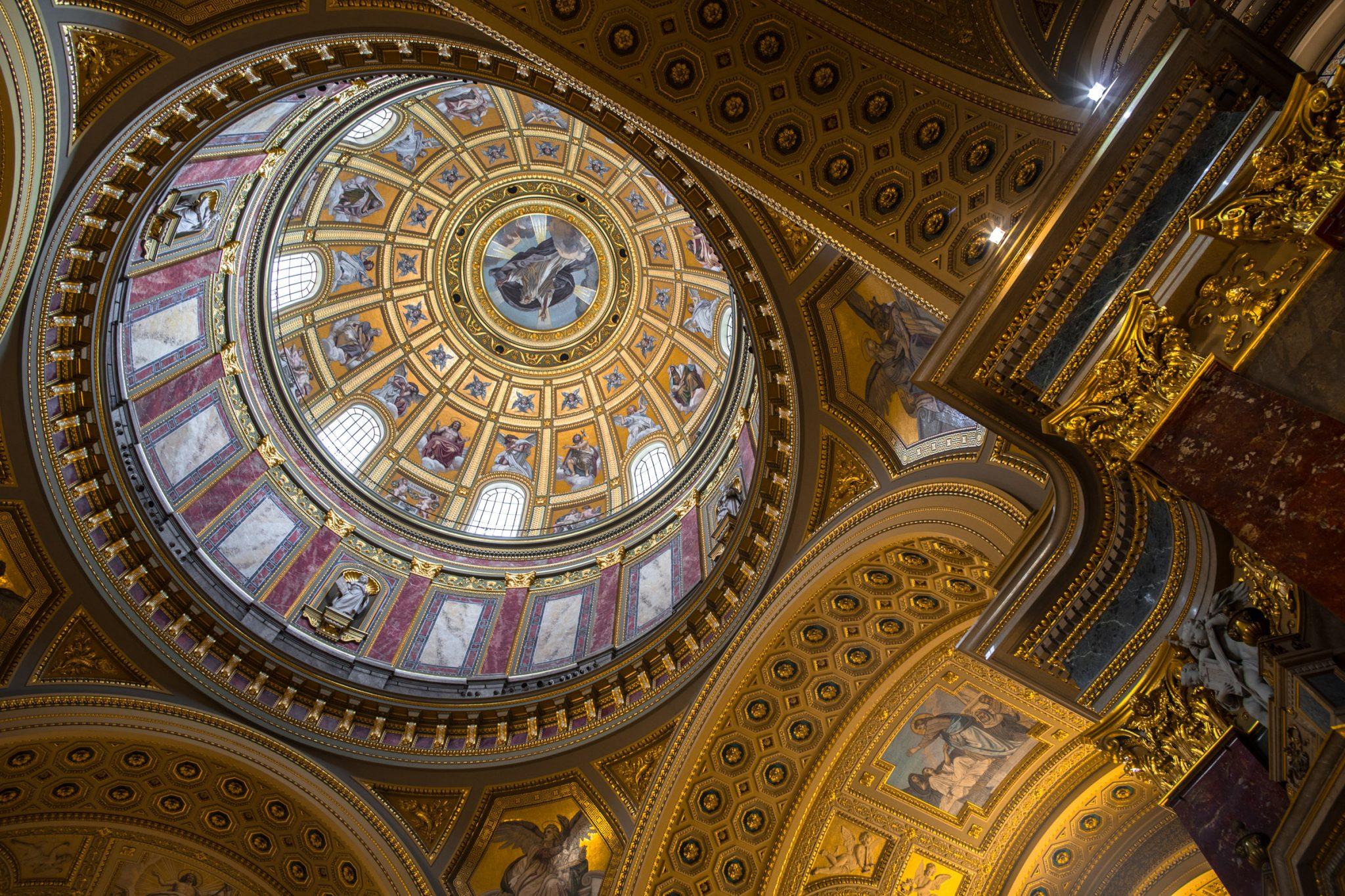 Inside St. Stephen's Basilica Budapest, Hungary