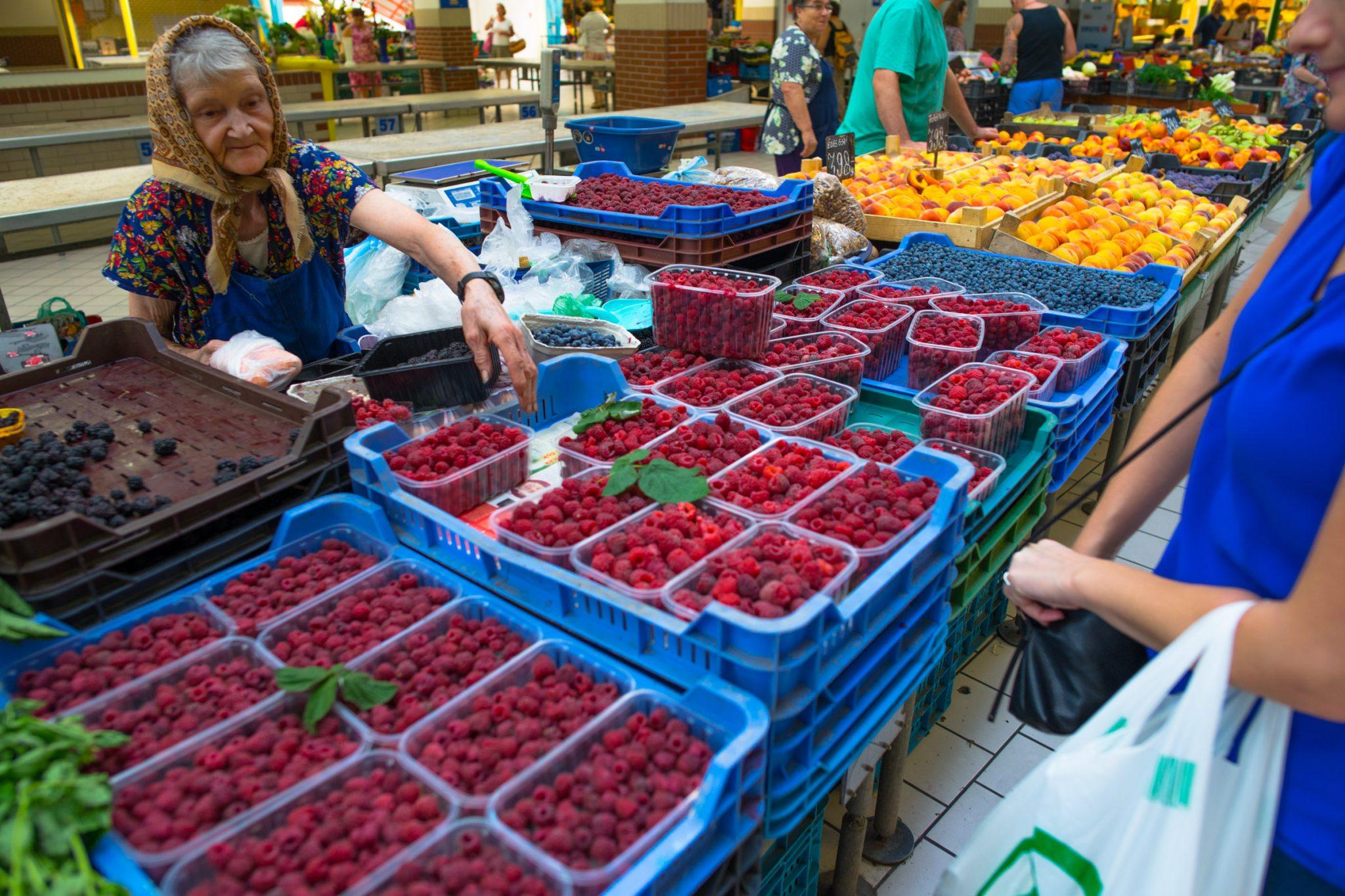 Farmer's Market in Budapest, Hungary