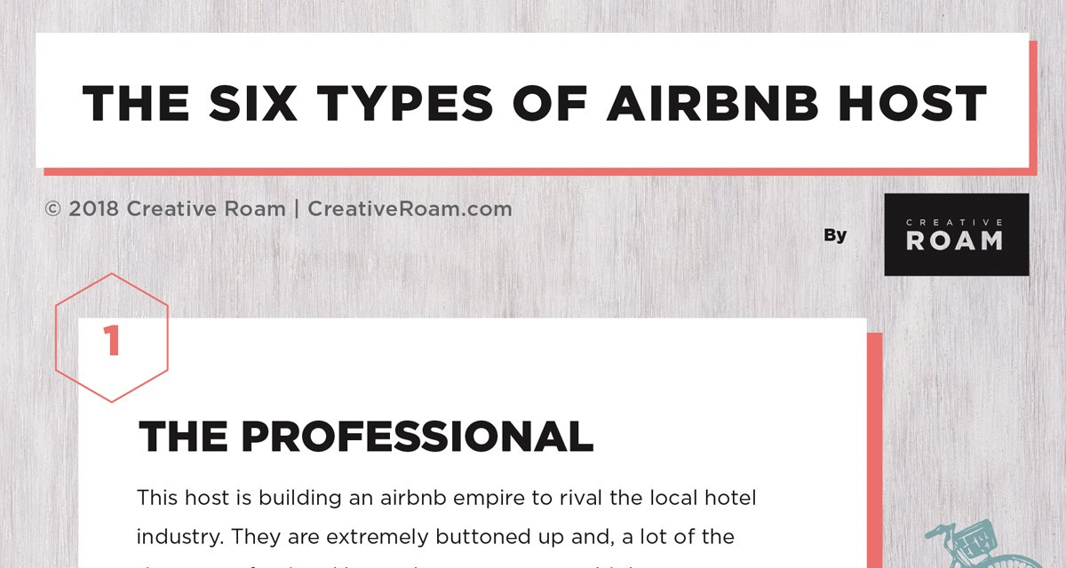 The Six Types of Airbnb Hosts | Creative Roam airbnb, digital nomad
