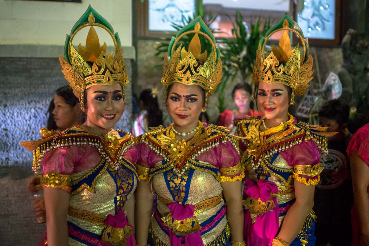 Traditional Balinese dancers.