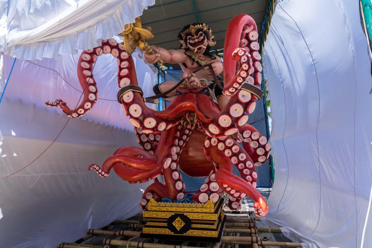 octopus ogoh ogoh statue bali